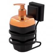 Porta Sabonete Líquido 300ml Com Suporte Fixação Ventosa