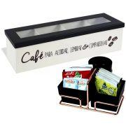 Porta Sachês e Mexedores Rosé Gold Caixa Para Cápsulas de Café