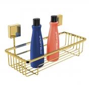 Porta Shampoo Dourado Fixação Por Parafusos - Wp Connect