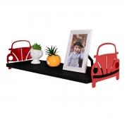 Prateleira Decorativa Fusca Vermelho em MDF 20x60cm - Wp Connect