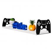 Prateleira Decorativa Gamer Controle Playstation em MDF 20x60cm - Wp Connect
