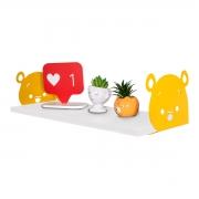 Prateleira Decorativa Ursinho Pooh em MDF 20x60cm - Wp Connect