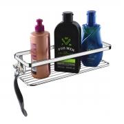 Prateleira Para Shampoo Com Suporte Para Barbeador Cromada