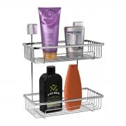 Prateleira Para Shampoo Dupla Fixação Por Parafusos Cromada - Wp Connect