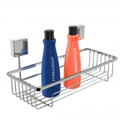 Prateleira Porta Shampoo Cromada Fixação Por Parafuso - Wp Connect