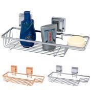Prateleira Porta Shampoo e Sabonete Fixação Ventosa
