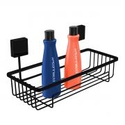 Prateleira Porta Shampoo Preta Fixação Por Parafuso - Wp Connect