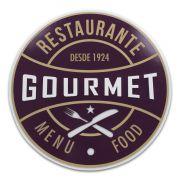 Quadro Decorativo Placa Restaurante Gourmet em MDF