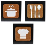 Quadros Decorativos Kitchen Chef em MDF Restaurante