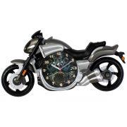 Relógio de Parede Moto VMax Cinza Motociclismo 30x58cm