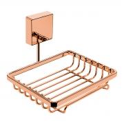 Saboneteira de Parede Fixação Por Parafusos Rosé Gold - Wp Connect