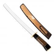 Espada Sabre Artesanal Inox Não Afiada Cabo Madeira e Chifre - Cutelaria Chef