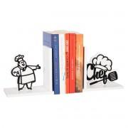 Suporte Aparador de Livros Chef de Cozinha Bibliocanto em MDF