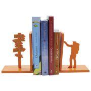 Suporte Aparador de Livros Organizador Bibliocanto Mochileiro