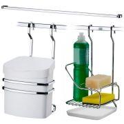 Suporte Para Lixeira Detergente Barra de Cozinha 45cm
