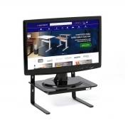 Suporte Para Monitor 3 Níveis Ajustável Vidro Fumê - Wp