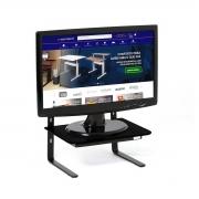 Suporte Para Monitor 3 Níveis Ajustável Vidro Preto - Wp