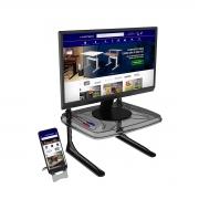 Suporte Para Monitor Ajustável 5 Níveis Com Porta Celular - Wp