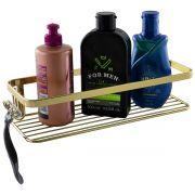 Prateleira Porta Shampoo Barbeador Banheiro Dourado
