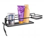Suporte Porta Shampoo e Sabonete de Parede Preto - Future
