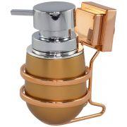 Suporte Sabonete Líquido com Ventosa Rosé Gold Premium