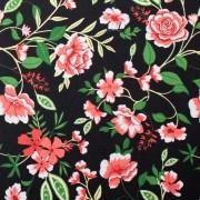 Tecido Tricoline para Patchwork Floral Corte 1m x 1,50m