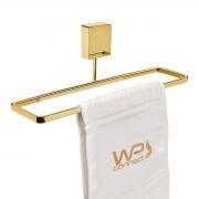 Toalheiro 25cm Dourado Fixação por Parafusos - Wp Connect
