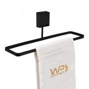 Toalheiro de Mão e Rosto 25cm Fixação por Parafusos Preto - Wp Connect