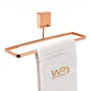 Toalheiro de Mão e Rosto 25cm Fixação por Parafusos Rosé Gold - Wp Connect