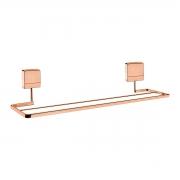 Toalheiro Duplo 45cm Fixação por Parafusos Rosé Gold - Wp Connect