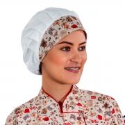 Chapéu Touca Estampada Feminina Clinicas Consultórios Cozinheiras - Wp Connect