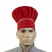 Touca Chef De Cozinha Confeiteiro - Vermelho
