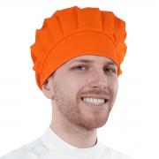 Touca Tipo Gorro Unissex Para Clínicas Chef de Cozinha Laranja