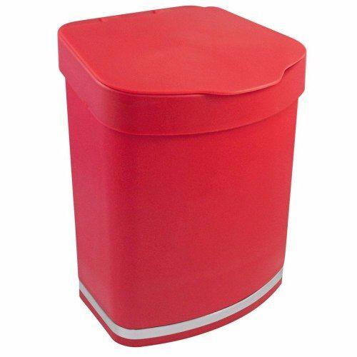 Escorredor De Louças Vermelho Conjunto 4 Peças Com Lixeira