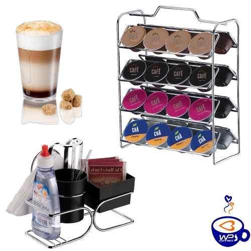 Organizador Cápsulas Cafe Dolce Gusto +porta Sachês Chá Café