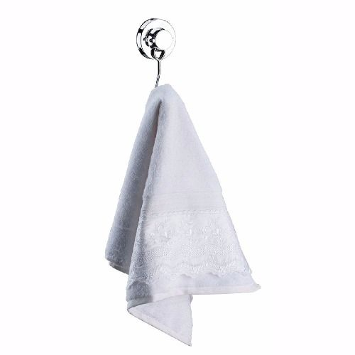 Porta Papel Higiênico Com Ventosa + Gancho Multiuso Simples