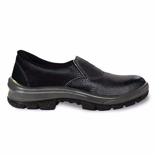 Sapato Cartom Em Couro Bico De Ferro