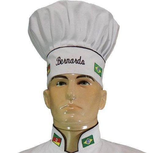 Chapéu Mestre Cuca - Personalizado Nome e Bandeiras