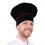 Chapéu Chef de Cozinha Preto Com Detalhe Vermelho - Wp Connect