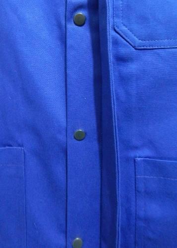 Jaleco Profissional Mecânico Detalhes Vermelhos Brim 100% Algodão