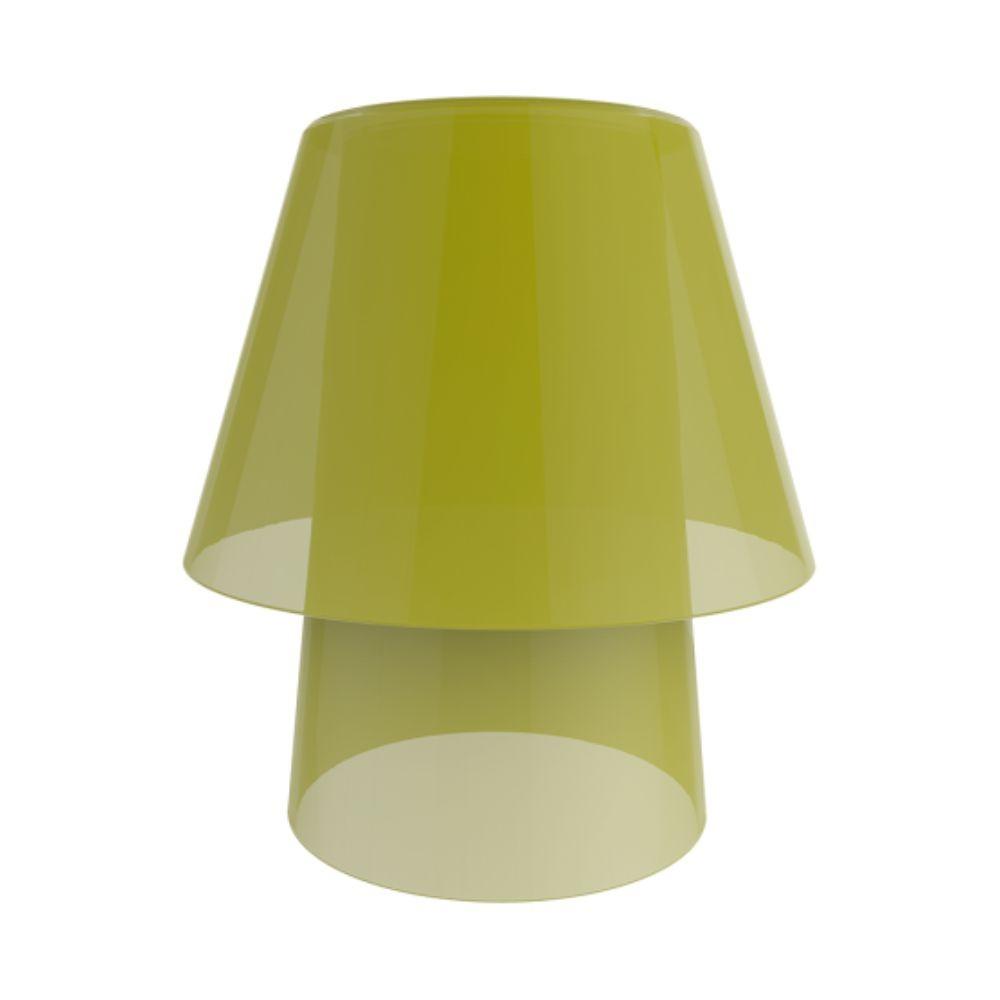 Abajur Compacto Para Sala/Quarto - Amarelo