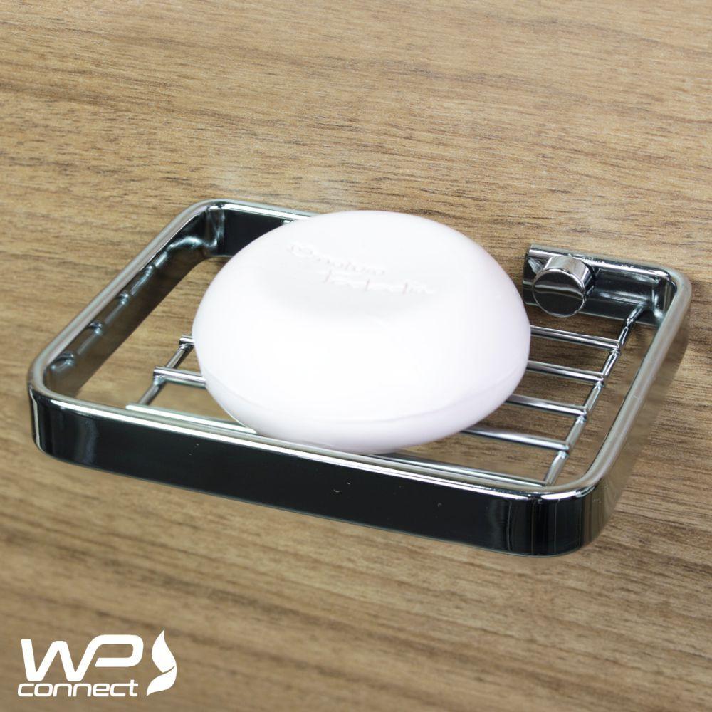 Acessórios Banheiro Kit 5 Peças Fixação Parafuso - Cromado
