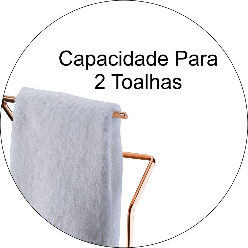 Acessórios Banheiro Papeleira e Toalheiro de Bancada - Cobre