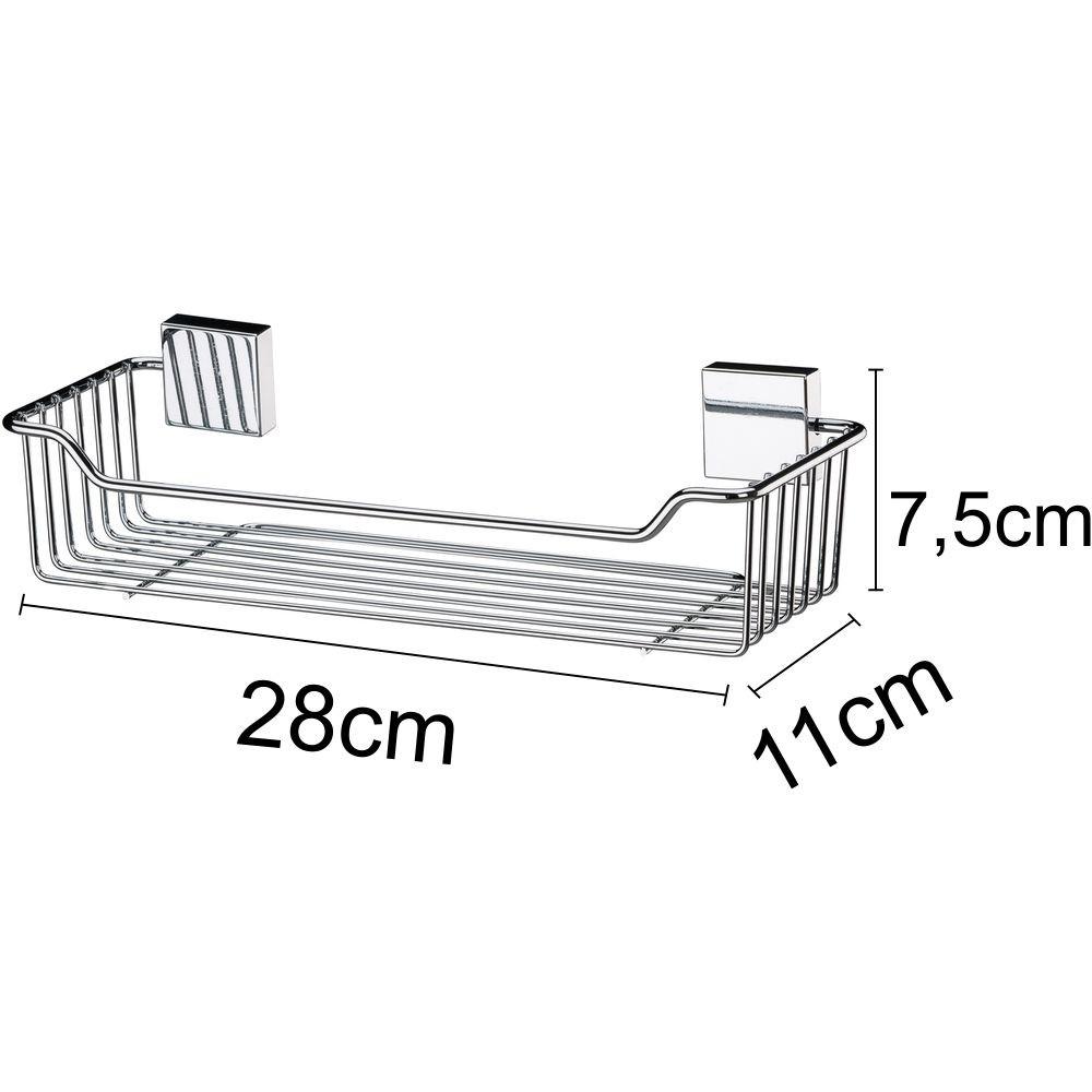 Acessórios Organizadores Para Banheiro Conjunto 3 Peças Aço Inox