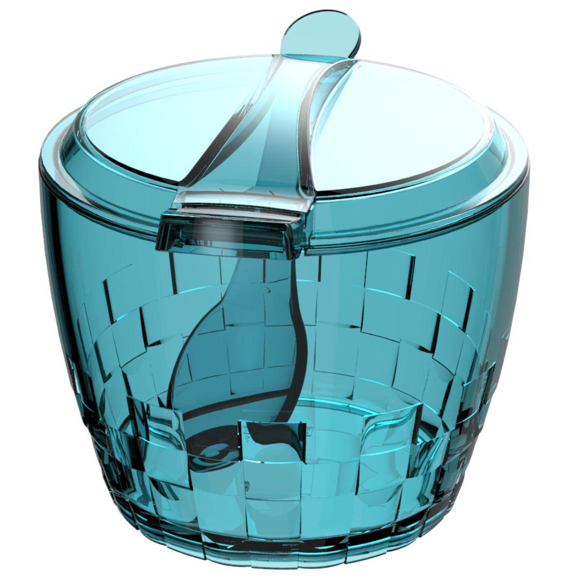 Açucareiro Plástico Com Colher Trama 500g - Colors