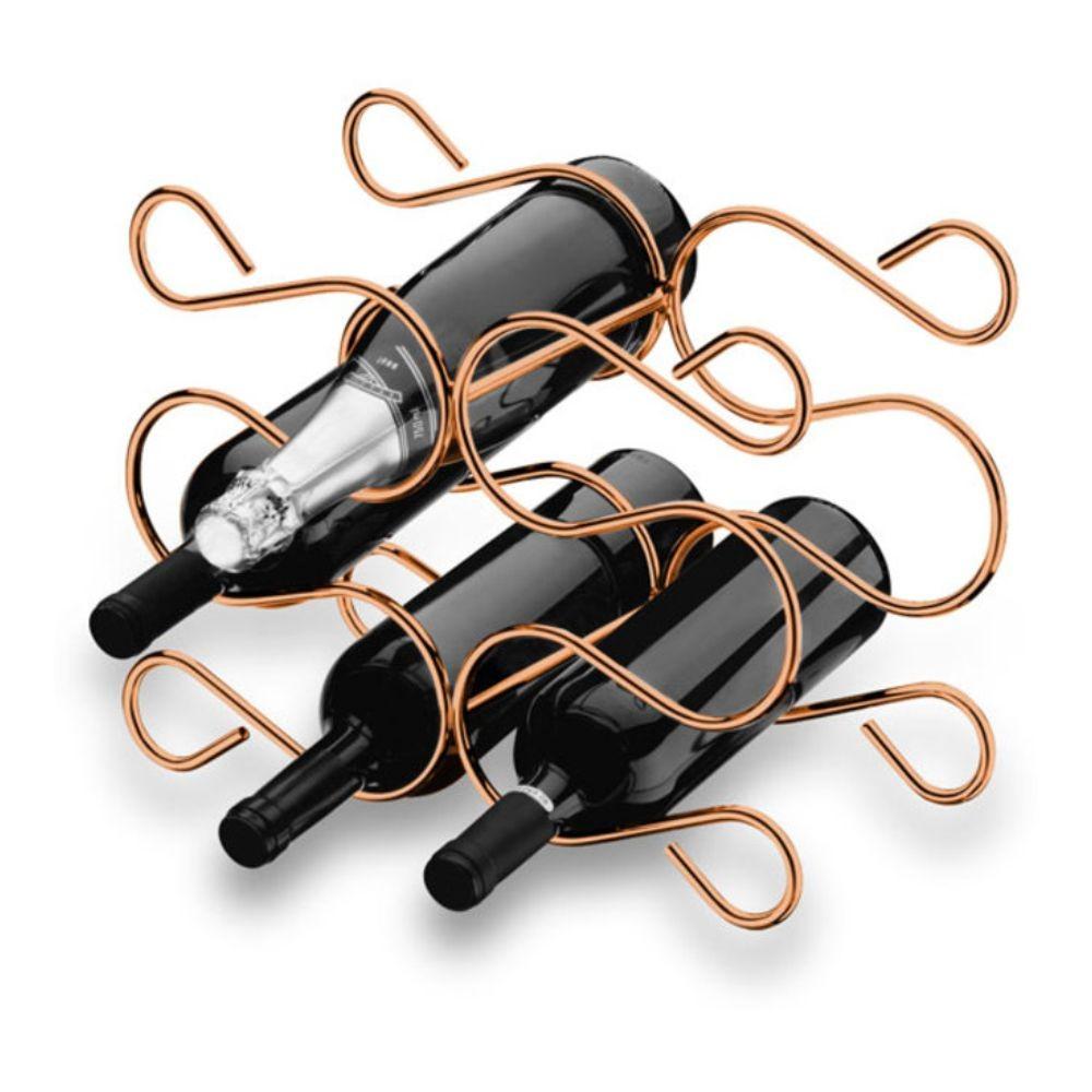Adega Caracol Para 6 Garrafas Vinho Bancada - Cobre