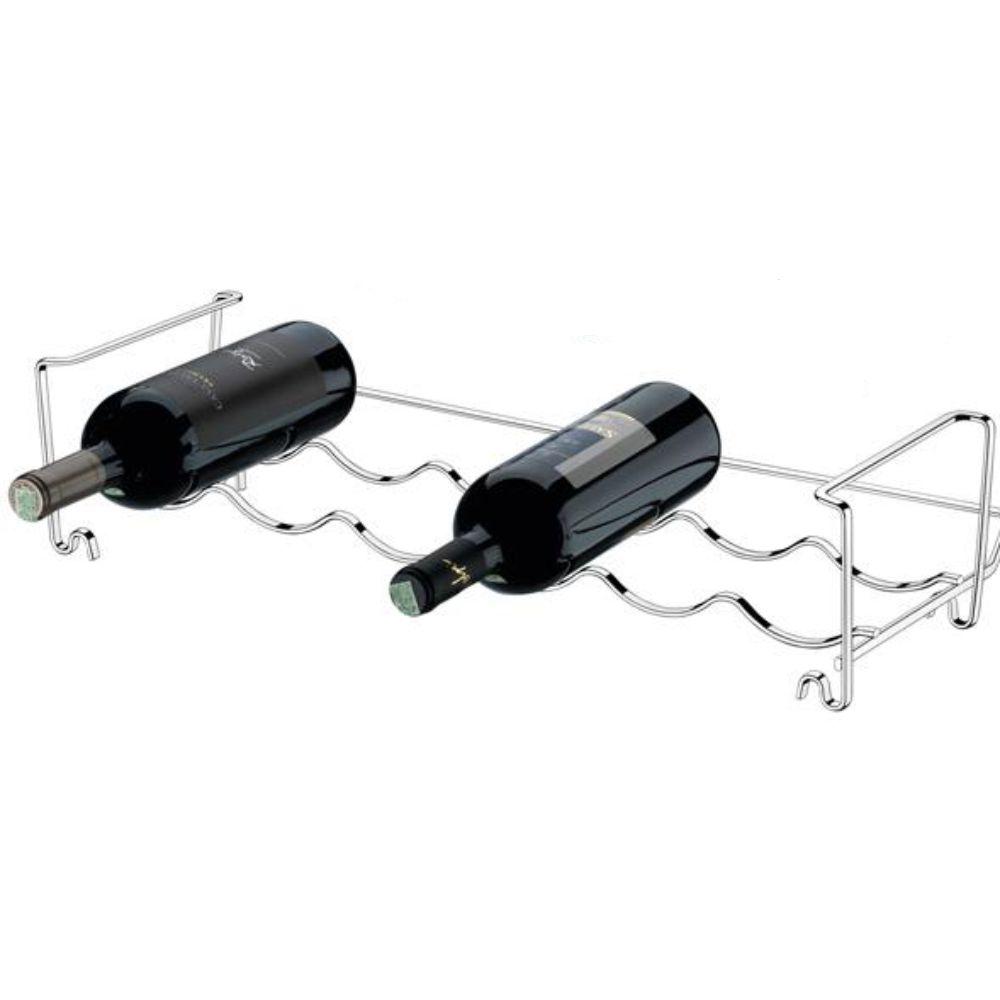 Adega Componível Para 6 Garrafas -  Aço Cromado