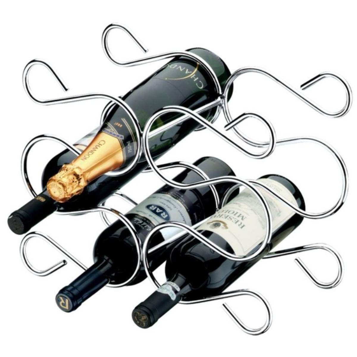 Adega de Bancada Para 6 Garrafas de Vinho Luxuosa em Aço