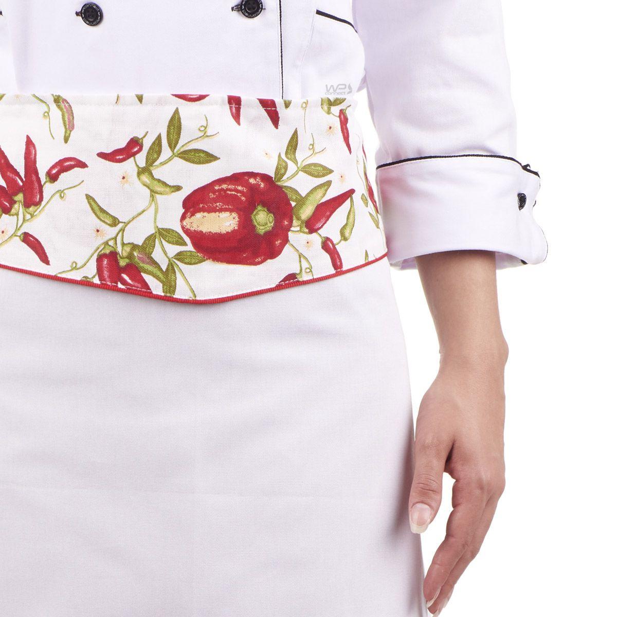 Avental Chef de Cozinha Feminino Pimentinha Confeiteira