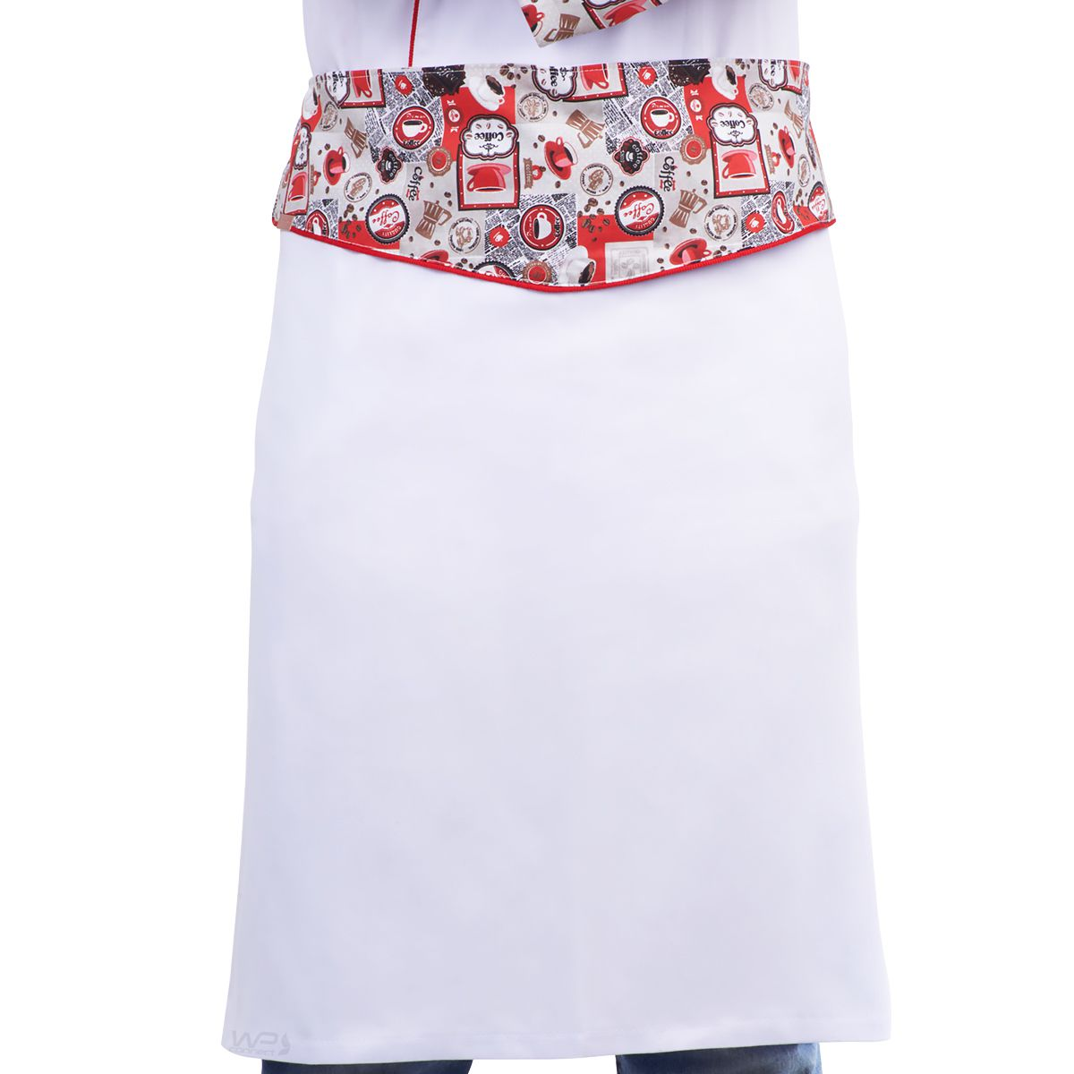 Avental de Cintura Chef Cafeteria Estampa Café